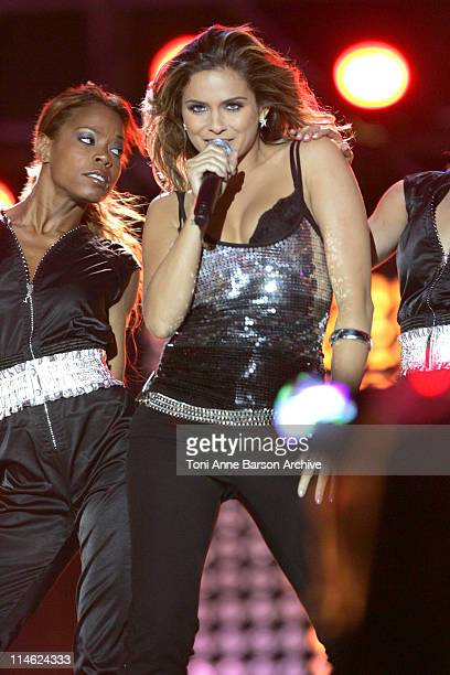 Clara Morgane during 'Fete de la Musique' Live on 'France 2' NRJ at Hippodrome D'Auteuil in Paris France
