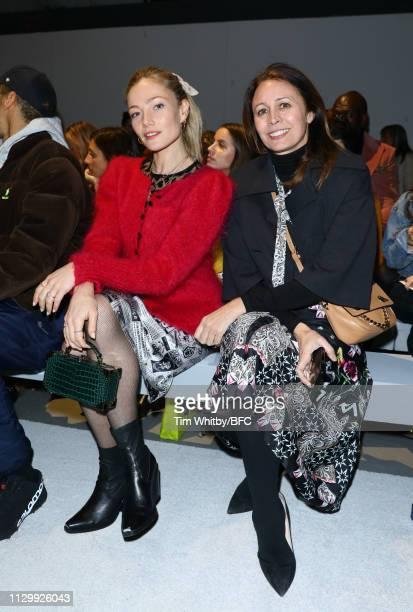 Clara Paget and Caroline Rush attends the Ashley Williams show during London Fashion Week February 2019 on February 15 2019 in London England