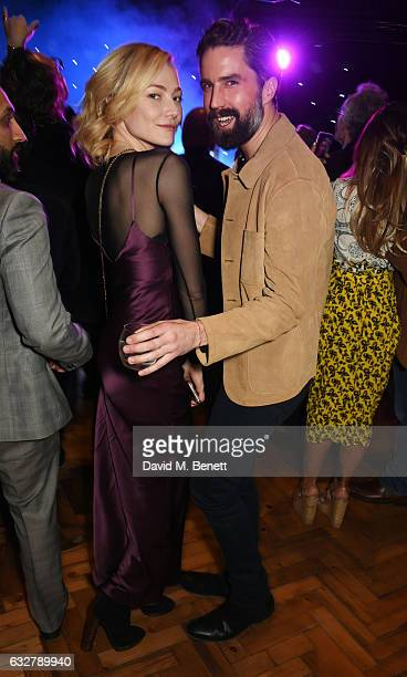 Clara Paget and Jack Guinness attend the launch of new luxury hotel The LaLit London on January 26 2017 in London England
