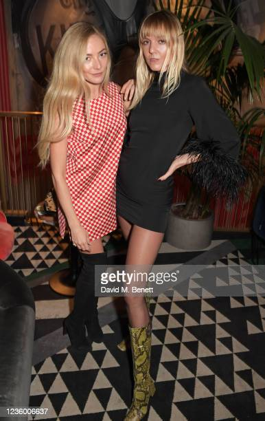 """Clara Paget and Jana Sascha Haveman attend a drinks reception ahead of a special screening of """"Quant"""" at The Everyman Chelsea on October 20, 2021 in..."""