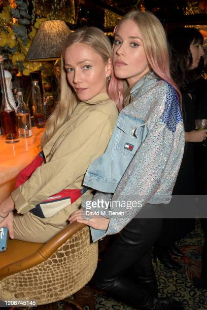 Clara Paget and Lady Mary Charteris attend the TOMMYNOW after party at Annabels on February 16 2020 in London England