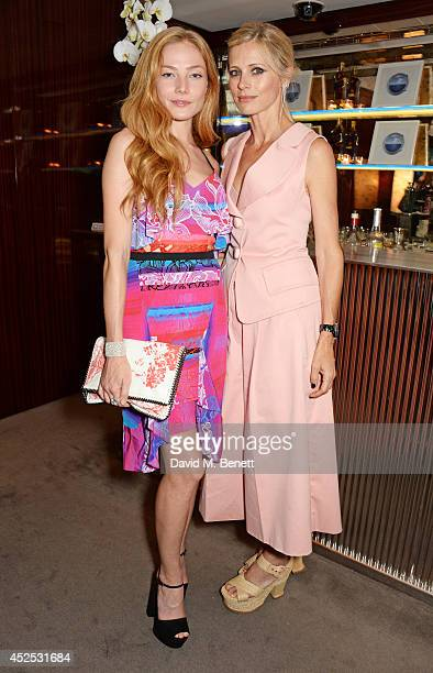 Clara Paget and Laura Bailey attends a VIP screening of 'Gentleman's Wager' hosted by Johnnie Walker Blue Label at The Bulgari Hotel on July 22 2014...