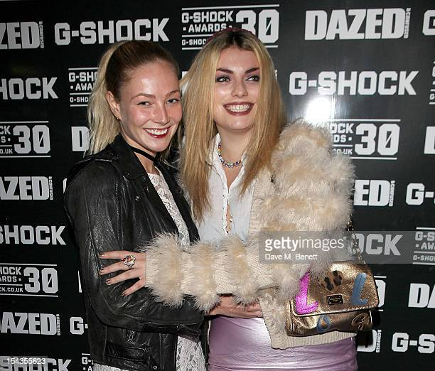 Clara Paget and Lola Lennox arrive as Dazed Confused present the Casio GShock 30th Anniversary Awards at the London Film Museum in Covent Garden on...