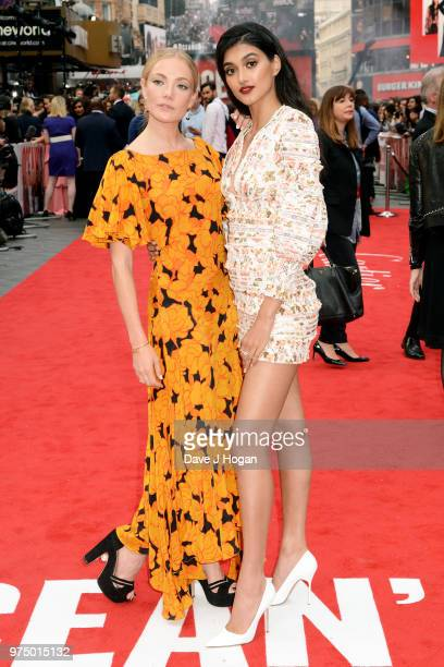 Clara Paget and Neelam Gill attend the 'Ocean's 8' UK Premiere held at Cineworld Leicester Square on June 13 2018 in London England