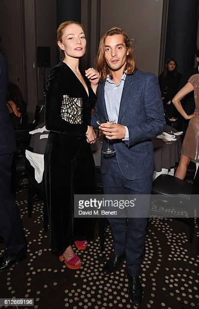 Clara Paget and Oscar Tuttiett attend the IWC Schaffhausen Dinner in Honour of the BFI at Rosewood London on October 4 2016 in London England