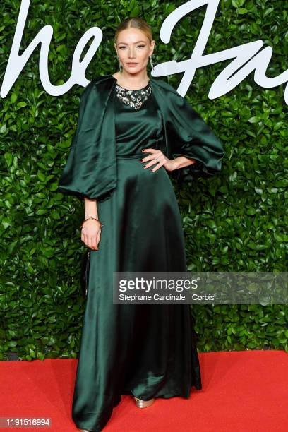 Clara Paget arrives at The Fashion Awards 2019 held at Royal Albert Hall on December 02, 2019 in London, England.
