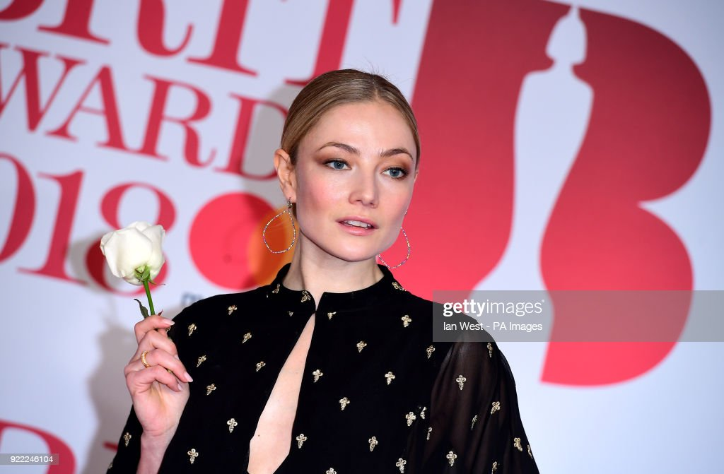 Clara Paget attending the Brit Awards at the O2 Arena, London.