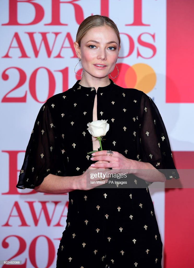 Clara Paget attending the Brit Awards at the O2 Arena, London