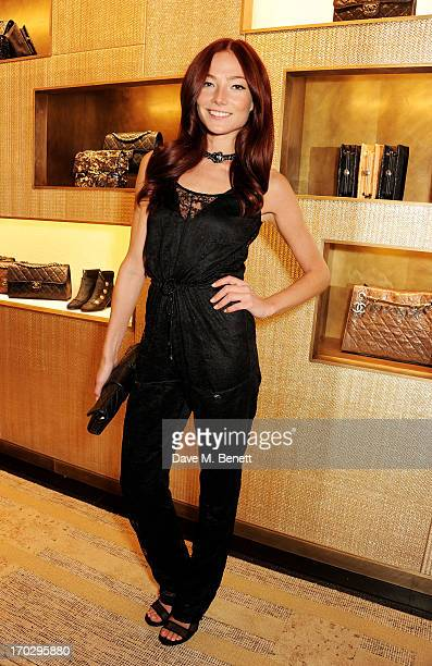 Clara Paget attends a private view of the new CHANEL flagship boutique on New Bond Street on June 10 2013 in London England
