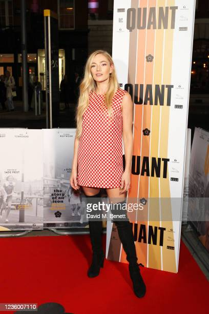 """Clara Paget attends a special screening of """"Quant"""" at The Everyman Chelsea on October 20, 2021 in London, England."""