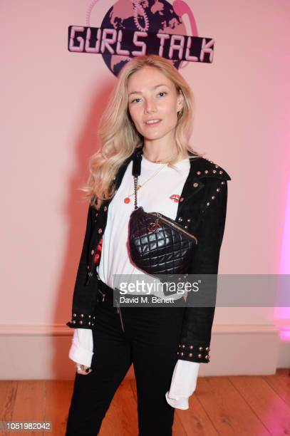 Clara Paget attends Adwoa Aboah's Gurls Talk website launch party at Somerset House on October 12 2018 in London England