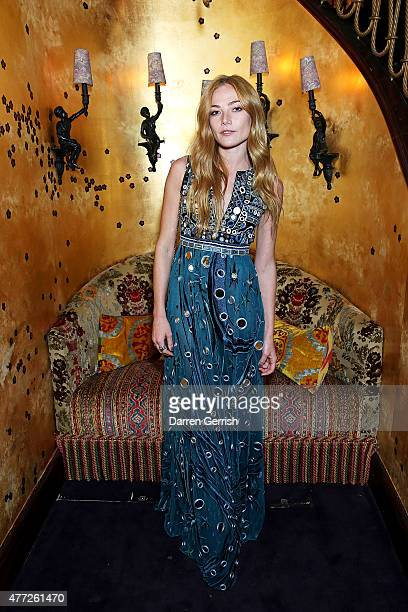 Clara Paget attends Anotherman 10th anniversary party at Lou Lou's 5 Hertford Street Mayfair on June 15 2015 in London England