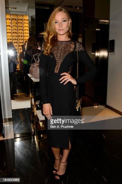 Clara Paget attends as Gucci celebrates 'The Bamboo' at Gucci Store Old Bond Street on October 16 2013 in London England