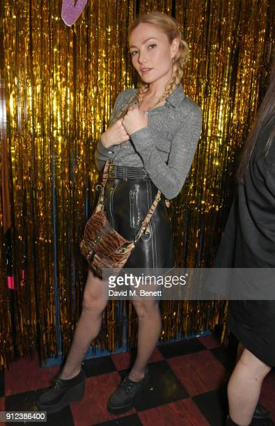 Clara Paget attends the ALEXACHUNG Fantastic collection party on January 30 2018 in London England