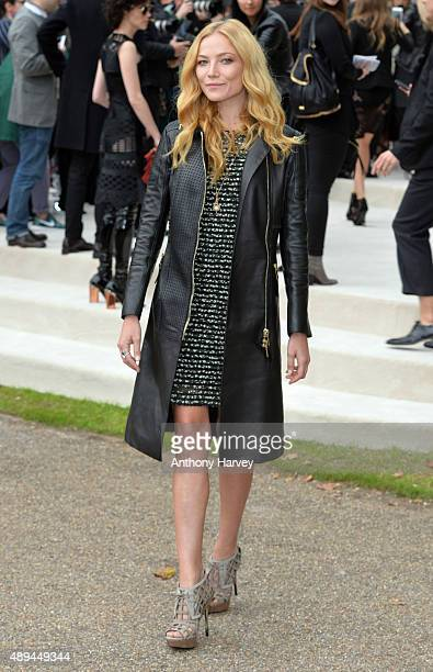 Clara Paget attends the Burberry Prorsum show during London Fashion Week Spring/Summer 2016/17 on September 21, 2015 in London, England.