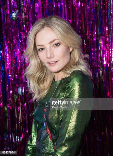 Clara Paget attends the Burberry x Cara Delevingne Christmas Party on December 2 2017 in London England
