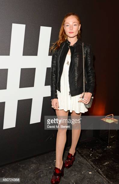 Clara Paget attends the Harvey Nichols presentation of #BEENTRILL# designer collaboration during London Collections Men at The Vaults on June 16 2014...