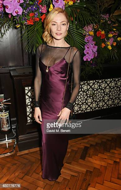 Clara Paget attends the launch of new luxury hotel The LaLit London on January 26 2017 in London England