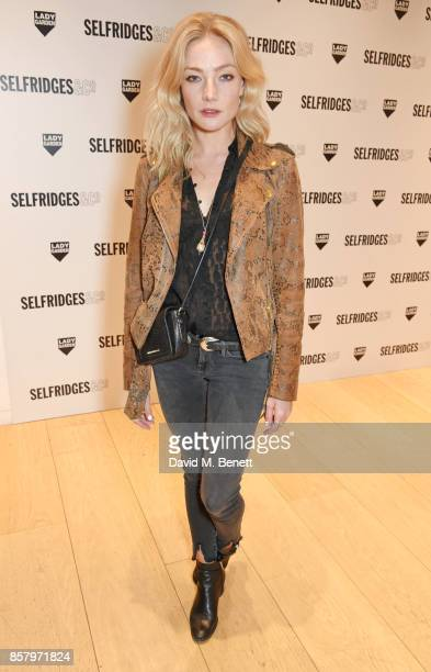 Clara Paget attends the launch of the new Lady Garden limited edition tshirts designed by Naomi Campbell Cara Delevingne Poppy Delevingne Chloe...