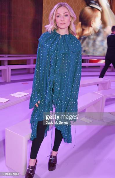 Clara Paget attends the Mulberry 'Beyond Heritage' SS18 Presentation during London Fashion Week February 2018 at Spencer House on February 16 2018 in...