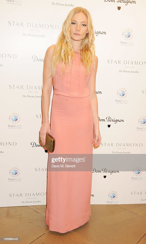 Clara Paget attends the Place For Peace dinner co-hosted by Ella Krasner and Forest Whitaker to support the Peace Earth Foundation in association with Star Diamond at Banqueting House on November 10, 2012 in London, England.