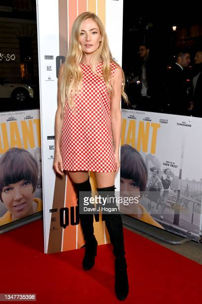 """Clara Paget attends the """"Quant"""" UK Premiere at The Everyman Cinema on October 20, 2021 in London, England."""