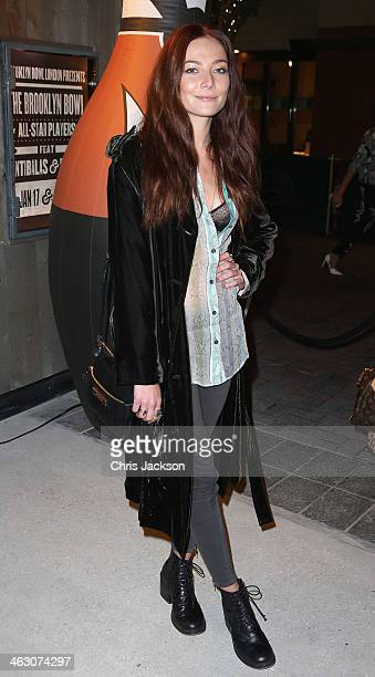 Clara Paget attends the red carpet launch party for the Brooklyn Bowl at 02 Arena on January 16 2014 in London England