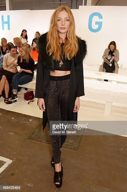 Clara Paget attends the Topshop Unique SS15 Front Row on September 14 2014 in London England