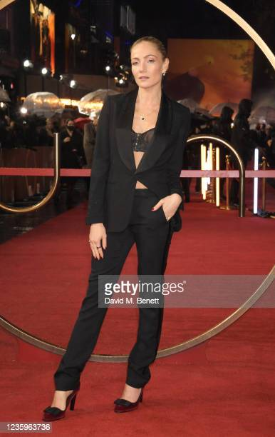 """Clara Paget attends the UK Special Screening of """"Dune"""" at the Odeon Luxe Leicester Square on October 18, 2021 in London, England."""