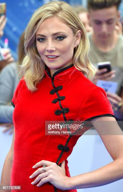 Clara Paget attends the 'Valerian And The City Of A Thousand Planets' European Premiere at Cineworld Leicester Square on July 24 2017 in London...