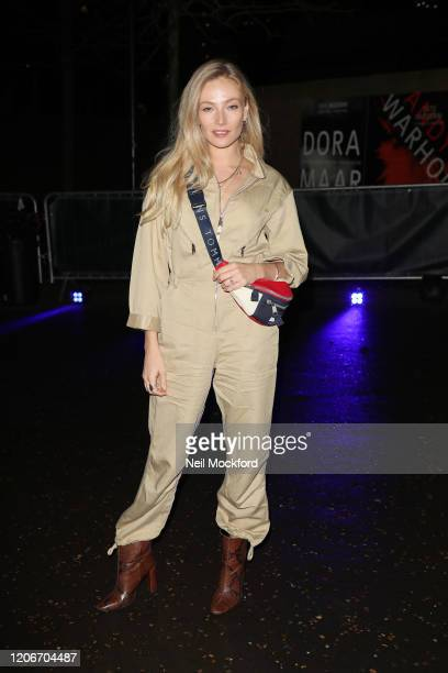 Clara Paget attends Tommy Hilfiger at Tate Modern during LFW February 2020 on February 16, 2020 in London, England.