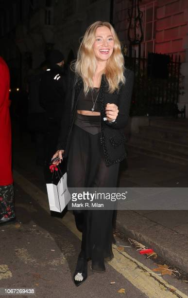 Clara Paget leaving Annabel's Club on November 13 2018 in London England