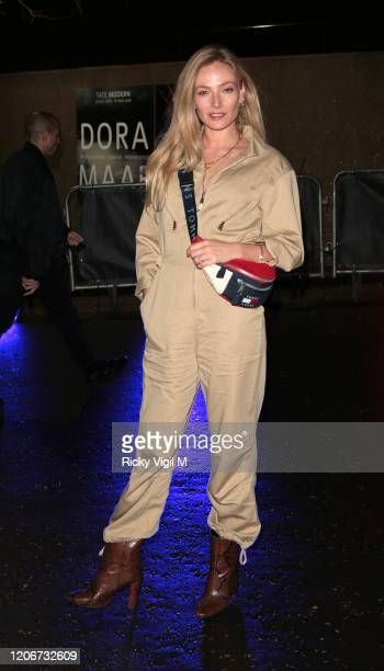 Clara Paget seen attending Tommy Hilfiger catwalk show at Tate Modern during LFW February 2020 on February 16 2020 in London England