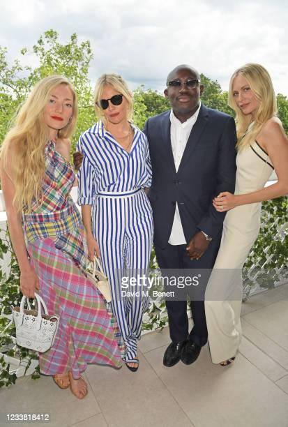 Clara Paget, Sienna Miller, Editor-In-Chief of British Vogue Edward Enninful and Poppy Delevingne attend the Polo Ralph Lauren & British Vogue day...