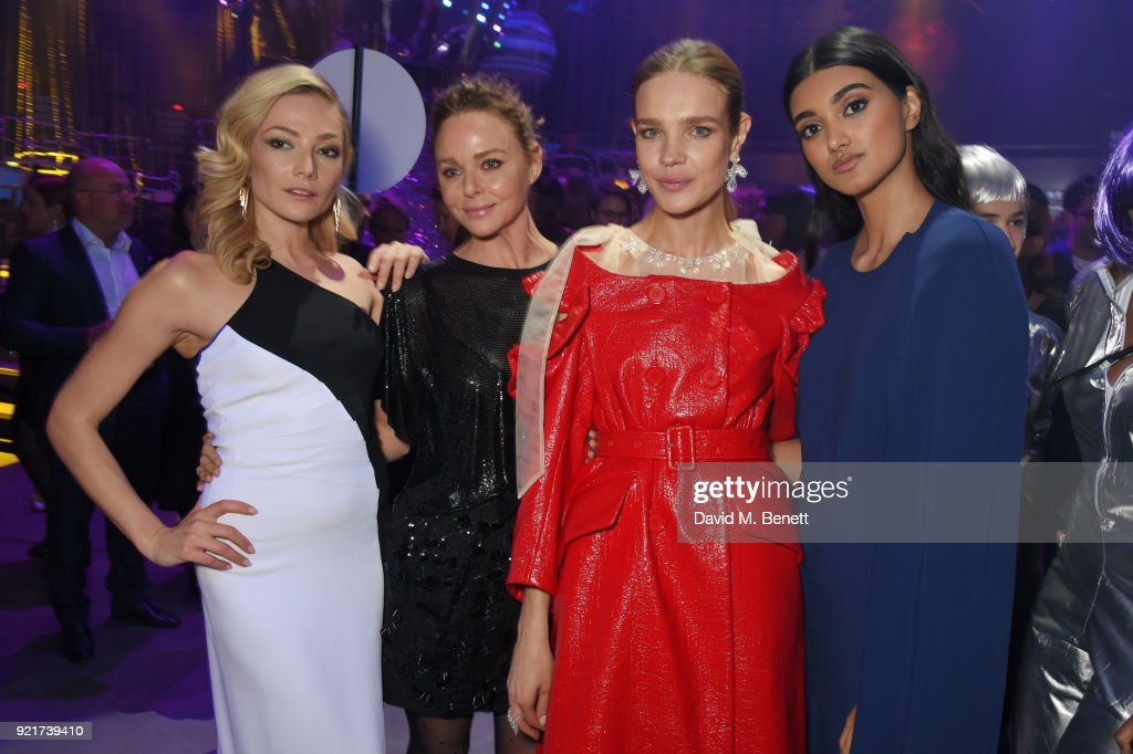 Clara Paget, Stella McCartney, Natalia Vodianova and Neelam Gill attend the Naked Heart Foundation's Fabulous Fund Fair at The Roundhouse on February 20, 2018 in London, England.
