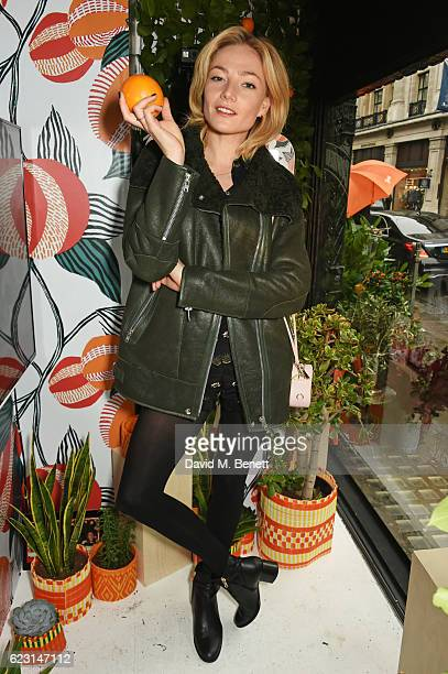 Clara Paget takes part in the Cointreau project at Liberty London on November 14 2016 in London England