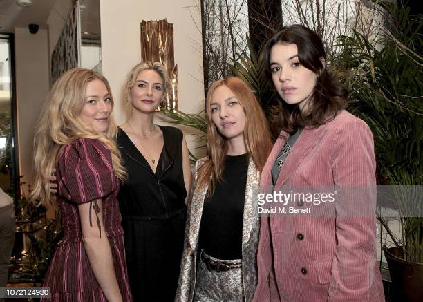 Clara Paget Tamsin Egerton Josephine de la Baume and Gala Gordon attend the launch of Tanqueray No TEN and House of Hackney's exclusive partnership...