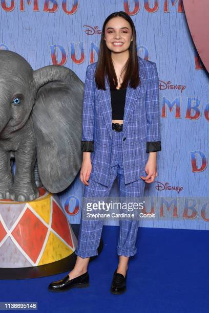 """Clara Quilichini attends the """"Dumbo"""" Paris Gala Screening at Cinema Le Grand Rex on March 18 2019 in Paris France"""