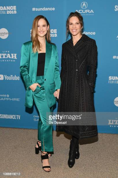 Clara Rugaard and Hilary Swank attend the I Am Mother Premiere during the 2019 Sundance Film Festival at Eccles Center Theatre on January 25 2019 in...