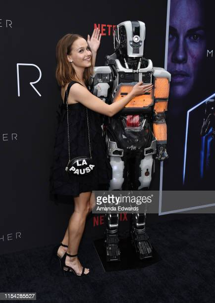 Clara Rugaard arrives at the LA Special Screening of Netflix's I Am Mother at ArcLight Hollywood on June 06 2019 in Hollywood California