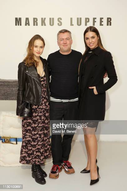 Clara Rugaard Markus Lupfer and Amber Le Bon attends the Markus Lupfer presentation during London Fashion Week February 2019 at Victoria House on...