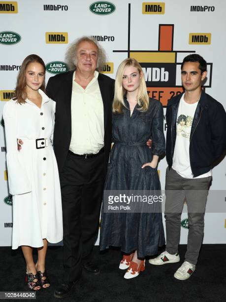 Clara Rugaard Zlatko Buric Elle Fanning and director Max Minghella of Teen Spirit attend The IMDb Studio presented By Land Rover At The 2018 Toronto...