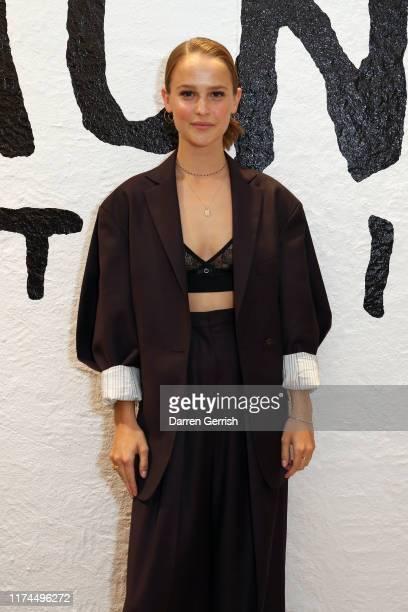 Clara RugaardLarsen attends Acne Studios Grant Levy Lucero Cocktail on September 13 2019 in London England