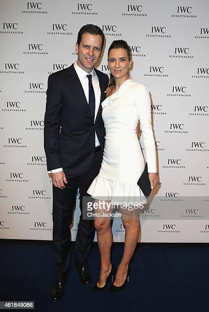 Clara Szalanzy and Oliver Bierhoff attend the IWC Gala Dinner during the Salon International de la Haute Horlogerie 2015 at the Palexpo on January...