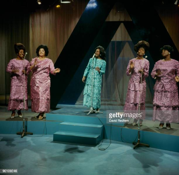 Clara Ward performs on stage with the Clara Ward Singers in 1968