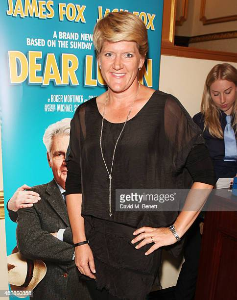 Clare Balding arrives for the press night performance of 'Dear Lupin' at The Apollo Theatre on August 3 2015 in London England