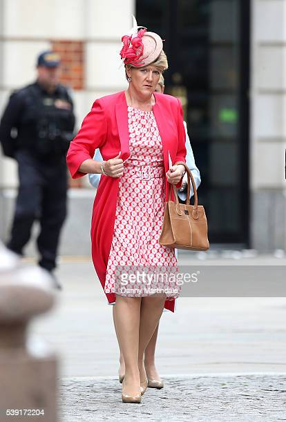 Clare Balding attends a National Service of Thanksgiving as part of the 90th birthday celebrations for The Queen at St Paul's Cathedral on June 10...