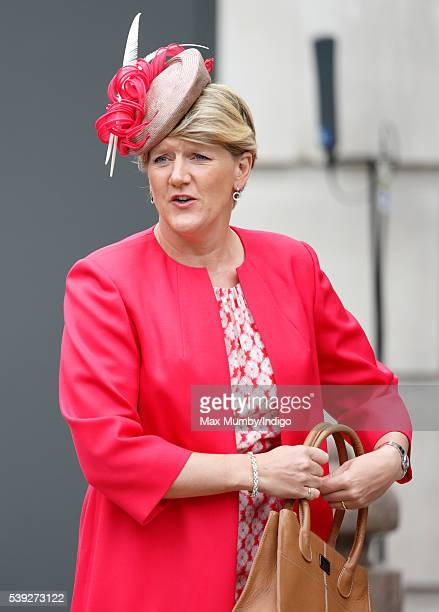 Clare Balding attends a national service of thanksgiving to mark Queen Elizabeth II's 90th birthday at St Paul's Cathedral on June 10 2016 in London...