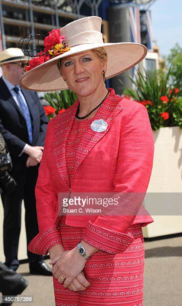 Clare Balding attends Day 1 of Royal Ascot at Ascot Racecourse on June 17 2014 in Ascot England