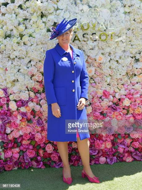 Clare Balding attends day 4 of Royal Ascot at Ascot Racecourse on June 22 2018 in Ascot England